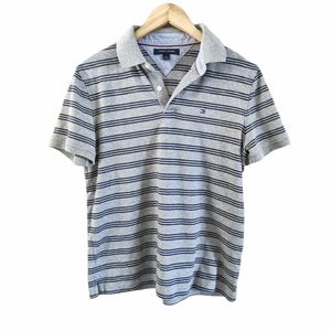Tommy Hilfiger Striped Short Sleeve Polo Shirt M